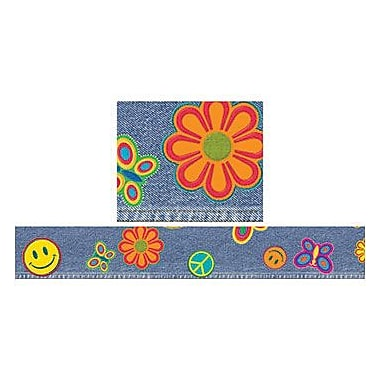 Trend Enterprises® pre-kindergarten - 12th Grades Bulletin Board Border, Jazzy Jeans