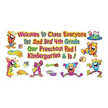 Trend Enterprises® Frog-Tastic® Mini Bulletin Board Set, Welcome Phrases