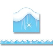 """TREND T-92164 39' x 2.25"""" Scalloped Snow and Ice Terrific Trimmer, Blue/White"""