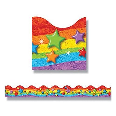 Trend Enterprises® Pre K - 9th Grades Scalloped Terrific Trimmer, Colorful Rainbow and Stars
