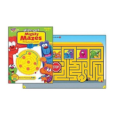 Trend Enterprises® Furry Friends Mighty Mazes Wipe-Off Book