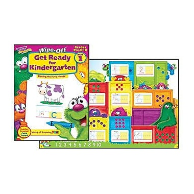 Trend Enterprises® Furry Friends Get Ready For Kindergarten Wipe-Off Book, Level 1