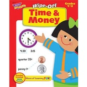 Trend Enterprises® Time and Money Wipe-Off Book