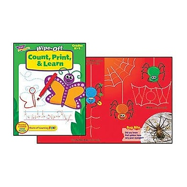 Trend Enterprises® Count, Print, and Learn Wipe-Off Book