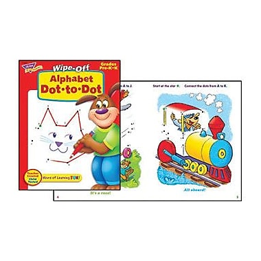 Trend Enterprises® Wipe -Off® Alphabet Dot-to-Dot Book