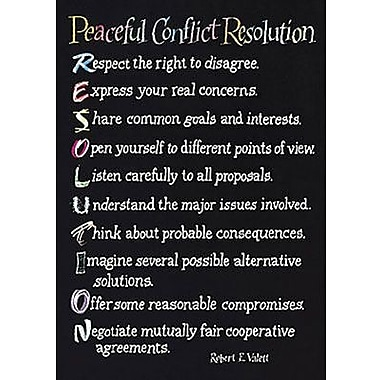Trend Enterprises® ARGUS® Poster, Peaceful Conflict Resolution