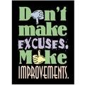 Trend Enterprises® ARGUS® Poster, Don't Make Excuses