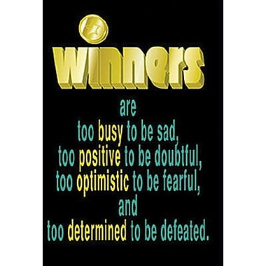 Trend Enterprises® ARGUS® Poster, Winners Are Too Busy To Be Sad