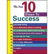 Trend Enterprises® ARGUS® Poster, The Top 10 Steps To Success