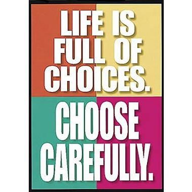 Trend Enterprises® ARGUS® Poster, Life Is Full of Choices