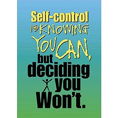 Trend Enterprises® ARGUS® Poster, Self-Control Is Knowing
