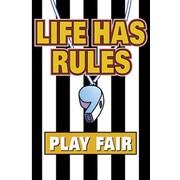 Trend Enterprises® ARGUS® Poster, Life Has Rules Play Fair
