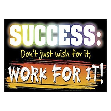 Trend Enterprises® ARGUS® Poster, Success-Don't Just wish