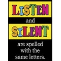 Trend Enterprises® ARGUS® Poster, Listen and Silent Are Spelled