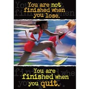 Trend Enterprises® ARGUS® Poster, You Are Not Finished When You Lose