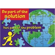 """TREND Enterprises TA-67165 """"Be Part of the Solution - Not Part of the Problem"""" ARGUS Poster"""