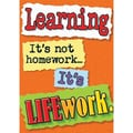 Trend Enterprises® ARGUS® Poster, Learning Its Not Homework, It's Life Work