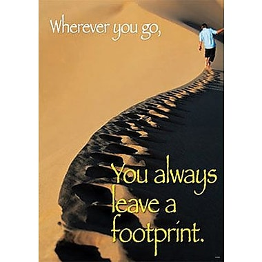 Trend Enterprises® ARGUS® Poster, Wherever You Go You Always Leave A Footprint