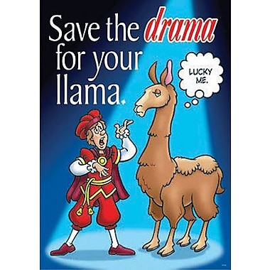 Trend Enterprises® ARGUS® Poster, Save The Drama For Your Llama