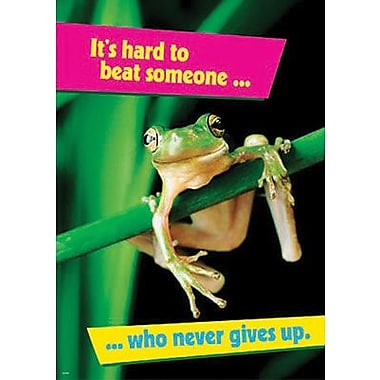 Trend Enterprises® ARGUS® Poster, It's Hard To Beat Someone Who Never Gives Up