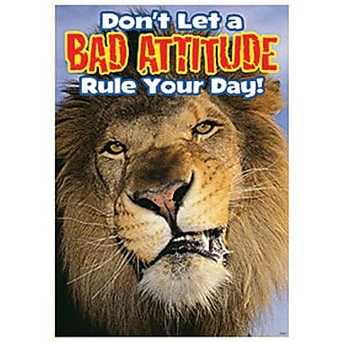 Trend Enterprises® ARGUS® Poster, Don't Let A Bad Attitude Rule Your Day!