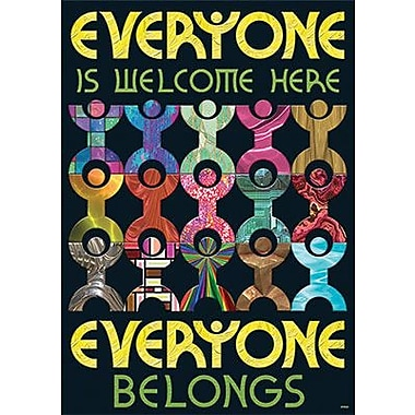 Trend Enterprises® ARGUS® Poster, Everyone Is Welcome Here, Everyone Belongs
