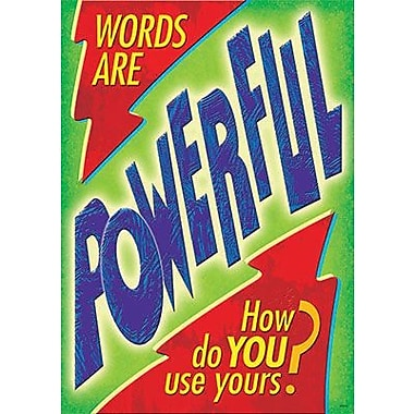 Trend Enterprises® ARGUS® Poster, Words Are Powerful. How Do You Use Yours