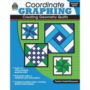 Teacher Created Resources® Creating Geometry Quilts Coordinate Graphing Book, Grades 4th - 8th