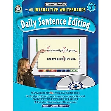Teacher Created Resources® Daily Sentence Editing Book and CD Set, Grades 2nd