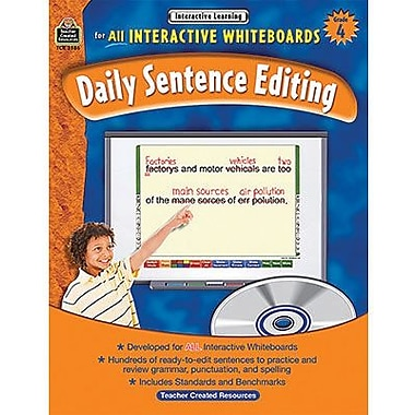 Teacher Created Resources® Daily Sentence Editing Book and CD Set, Grades 4th