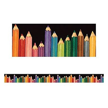 Teacher Created Resources® pre-school - 12th Grades Bulletin Board Border Trim, Colored Pencils