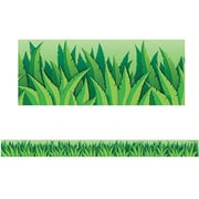 "Teacher Created Resources TCR4082 35"" Straight Island Leaves Border Trim, Green"