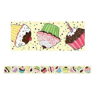 Teacher Created Resources® pre-school - 12th Grades Straight Bulletin Board Border Trim, Cupcake