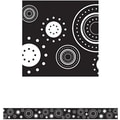 Teacher Created Resources® Straight Bulletin Board Border Trim, Black, White Crazy Circles