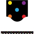 Teacher Created Resources® P-12th Grades Scalloped Bulletin Board Border Trim, Multi Color Dots