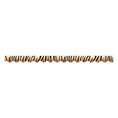 Teacher Created Resources TCR4750 35in. x 2.187in. Scalloped Tiger Border Trim, Multicolor