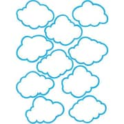 "Teacher Created Resources TCR5045 6"" DieCut Weather Clouds Accents, Blue/White"