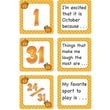 Teacher Created Resources® Calendar Days/Story Starters Mini Pack, Polka Dot, October