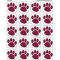 Teacher Created Resources® Stickers, Maroon Paw Prints