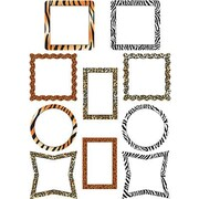 "Teacher Created Resources TCR5098 6"" DieCut Picture Frame Animal Prints Accents, Multicolor"