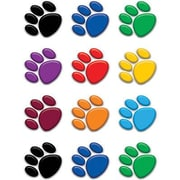 "Teacher Created Resources TCR5116 2.625"" DieCut Paw Prints Mini Accents, Assorted"