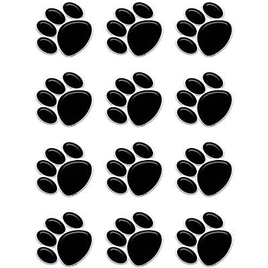 Teacher Created Resources® Grades Toddler - 12th Mini Accents, Black Paw Prints