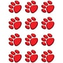Teacher Created Resources Accents, Red Paw Prints, 36/pack