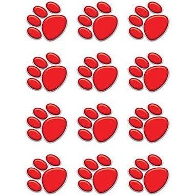 Teacher Created Resources® Accents, Red Paw Prints, 36/Pack