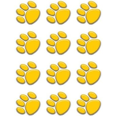 Teacher Created Resources® Toddler - 12th Grades Mini Accents, Gold Paw Prints
