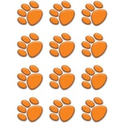 "Teacher Created Resources TCR5122 2.63"" x 2.63"" DieCut Paw Prints Mini Accents, Orange"