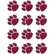 Teacher Created Resources® Toddler - 12th Grades Mini Accents, Maroon Paw Prints