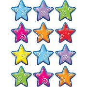 "Teacher Created Resources TCR5125 2.625"" DieCut Stars Mini Accents, Multicolor"