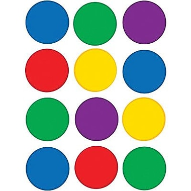 Teacher Created Resources TCR5127 2.625in. DieCut Colorful Circles Mini Accents, Assorted