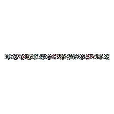 Teacher Created Resources® P-12th Grades Scalloped Bulletin Board Border Trim, Leopard Rainbow